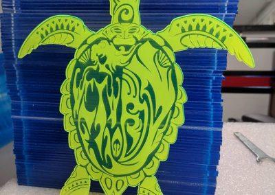 Turtle Engraving